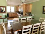 Dining area is open to the kitchen and living area.