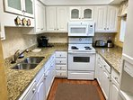 Ample counter space makes it easy for two to work at the same time.