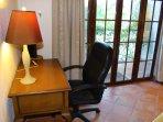 Desk in queen guest room