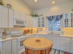 Modern appliances and ample counters make home-cooking more than easy.