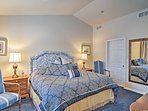 Retreat to the master bedroom for a peaceful night's sleep in the king bed.