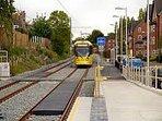 The tram stop (five minutes walk away)