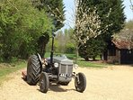 Tractor ready to mow the paddocks