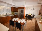 The Modern Fully Equipped Kitchen, a view of the Dining Area
