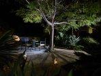 Beautifully lit evening Garden!!