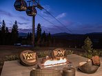 Enjoy a fire after a day on the slopes