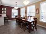 Dine and entertain at the dining room table.