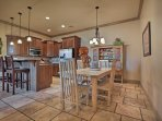 Enjoy home-cooked meals around the 6-person dining room table.