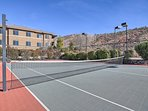 Challenge your friends to a game of tennis!