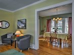 Easily make your way from the living area to the formal dining room.
