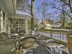 Look forward to sunny days spent grilling out on the back deck with views of the yard.