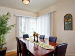 Dining table seats up to 8