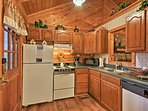 Cook up homemade feasts in the fully equipped kitchen.