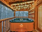 Soak up the private and peaceful atmosphere while unwinding in the hot tub.