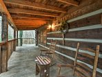 Relax on the front porch while taking in the Smoky Mountain views.