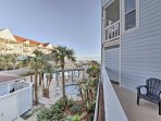 Enjoy views of the ocean and community pool from the oversized balcony.