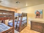 Children or siblings will doze off easily in these 2 twin-over-full beds!