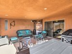 Relax and recharge on the furnished patio.