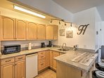 Prepare light meals and coffee in the kitchenette.