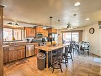 Whip up delicious cuisine in the fully equipped kitchen.