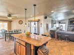 You'll find ample seating throughout the kitchen, perfect for large groups.