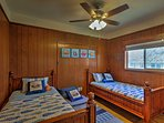 Friends or siblings will love sharing this room with 2 twin beds and 1 twin-sized trundle bed.
