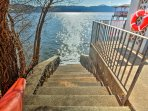 Steps from the property give you direct access to the lake!