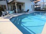 The solar heated pool