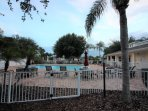 Gated community pool and clubhouse