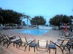 Heated community pool and spa