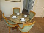 Dining Table for 4 and 2 more at the kitchen bar area
