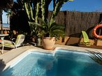 10 meters to the beach! and beach bar, private pool set in mature tropical garden