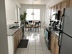 Bright, open kitchen and eating nook