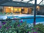 Pool deck taken from outside lanai