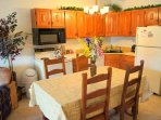 Kitchen and dinning table seating up to 10