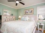 Ceiling fan in guest bedroom keeps things cool!