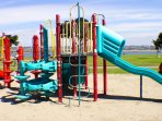 Playground at bay in front of house