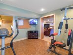 Fitness Room with HD Smart TV