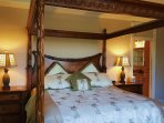 4-Posted King Bed in Master Bedroom Suite.