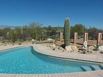 Pool area looking toward the Santa Catalina Mountains to the north.