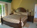 Garden Room -king bed, en-suite bathroom with shower