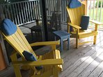 Adirondack chairs on your own private balcony.