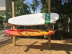 Complimentary paddle boards and kayaks can be used at the beach or Lemon Bay.
