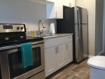 Stainless steel appliances & amenities for all your cooking needs.