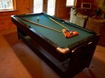pool table (not standard size)
