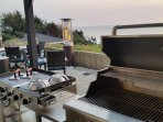 Smoker, Griddle and 6-Burner Grill