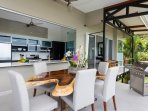 Gourmet Kitchen, Dining and Outdoor Grill