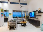 Living Area with Breathtaking Ocean View