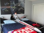 Star Wars Themed Bedroom (Upstairs) - 2 Twins & 1 Trundle
