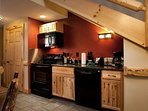 Prepare delicious meals in the fitted kitchenette